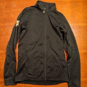 Tops - Black Zip-Up Jacket w/ Notre Dame Logo